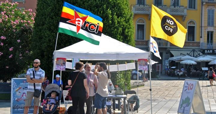 Como senza frontiere e Arci in piazza Cavour perché il clima non si ferma alle frontiere