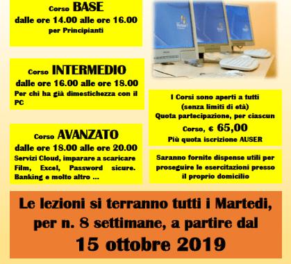 15 ottobre/ Corsi di informatica a Lomazzo