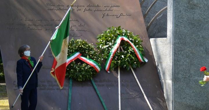 25 aprile 2020/ L'omaggio al Monumento alla Resistenza Europea