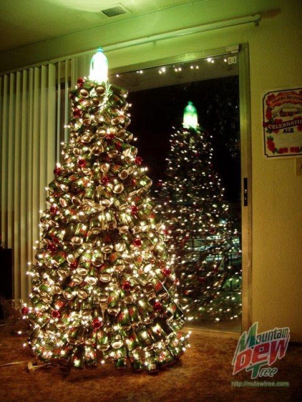 rbol de navidad con latas recicladas - Imagenes Arbol De Navidad
