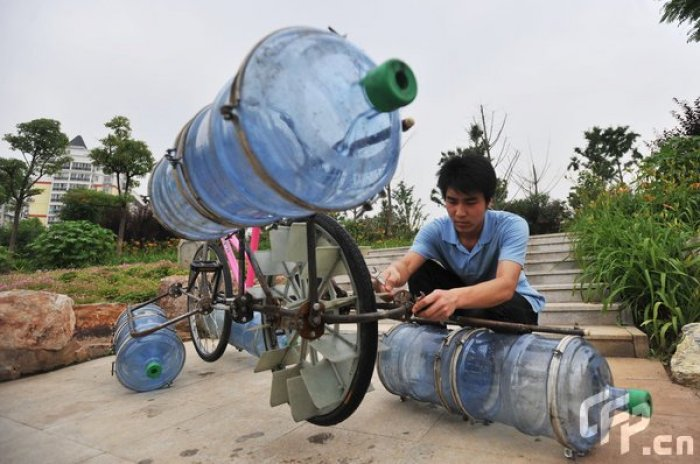 bicicleta anfibia casera3