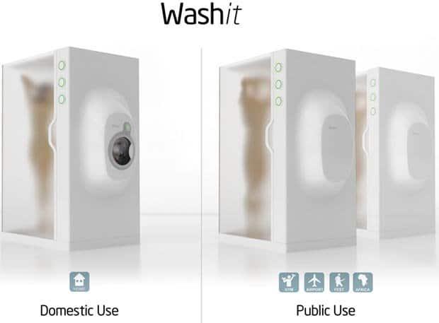 Washit, un nuevo diseño que es ducha y lavadora al mismo tiempo