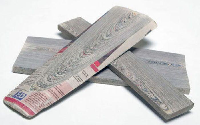 Kranthout: Como convertir periódicos en madera