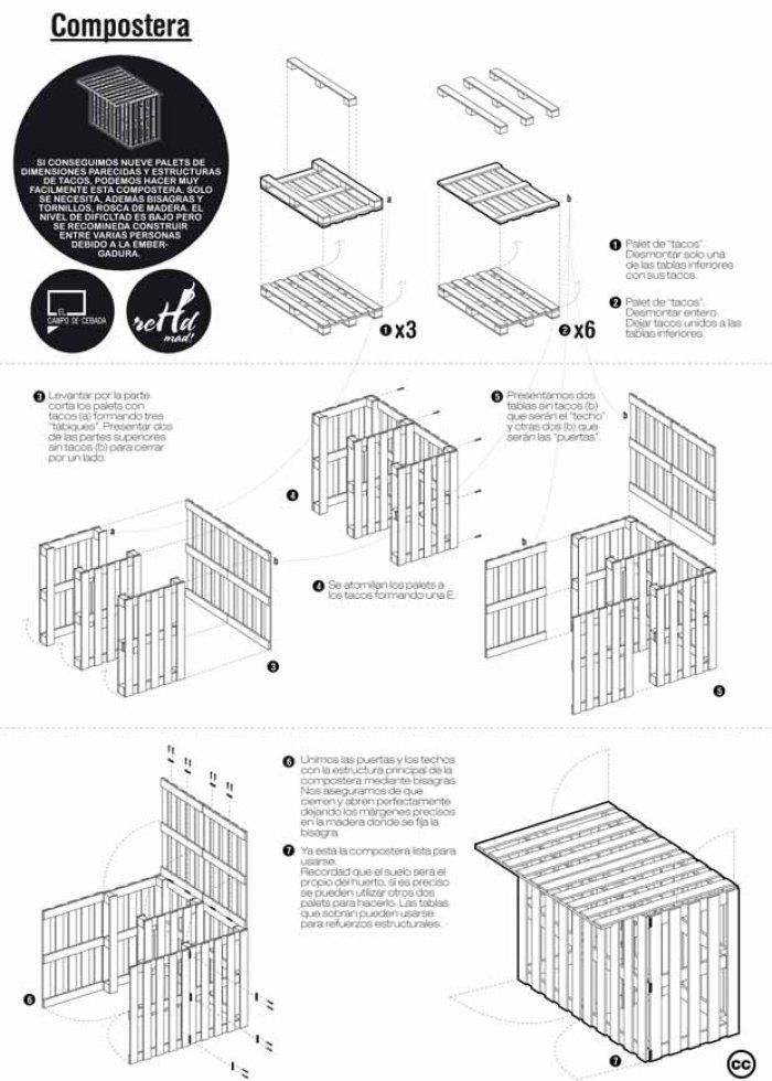 Planos para construir muebles reutilizando palets for Manual para hacer muebles