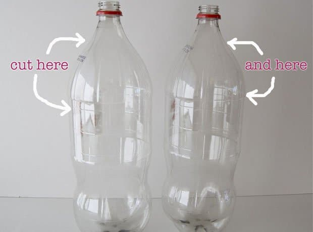 Decora una simple l mpara de pie con botellas pet - Como hacer una lampara de pie artesanal ...