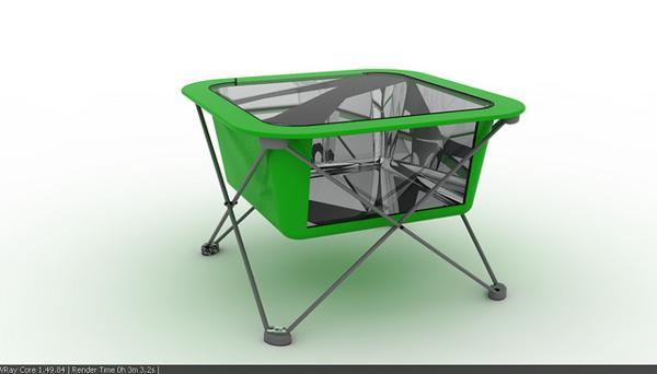 cocina solar para camping
