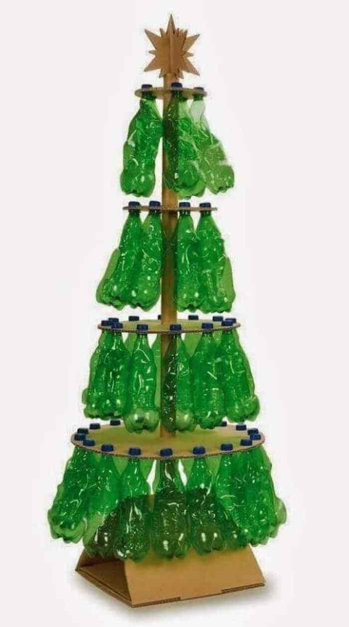 31 ideas para tu rbol de navidad con materiales reciclados