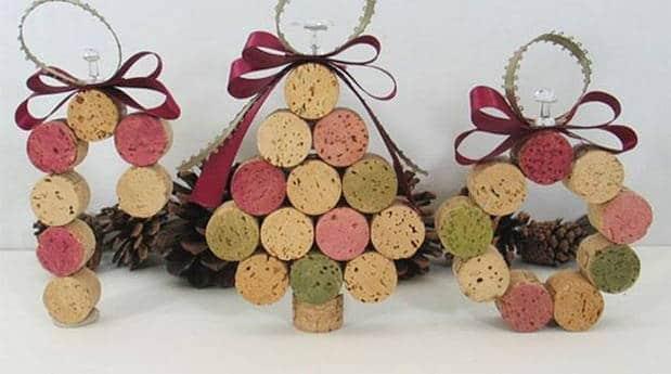 rbol de navidad con corchos
