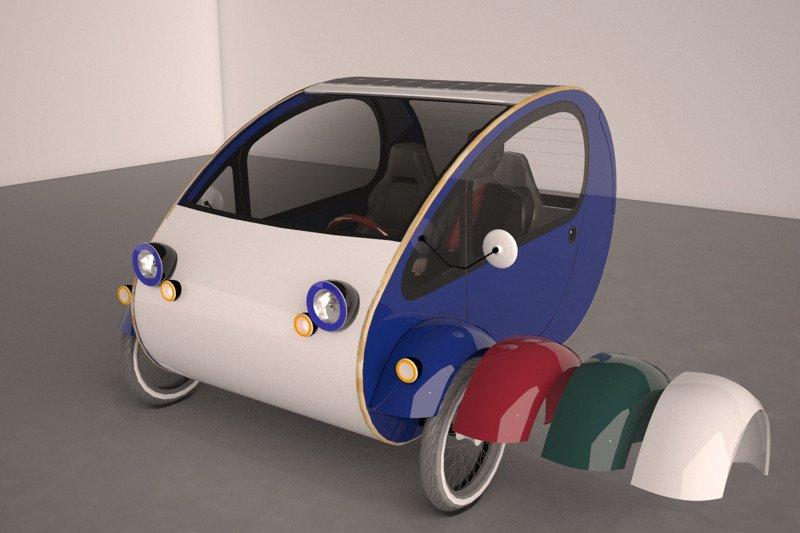 mö, triciclo biplaza Solar Urbano