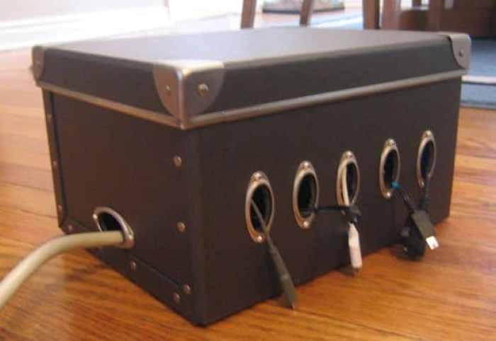 15 ideas para organizar tus cables - Caja para ocultar cables ...