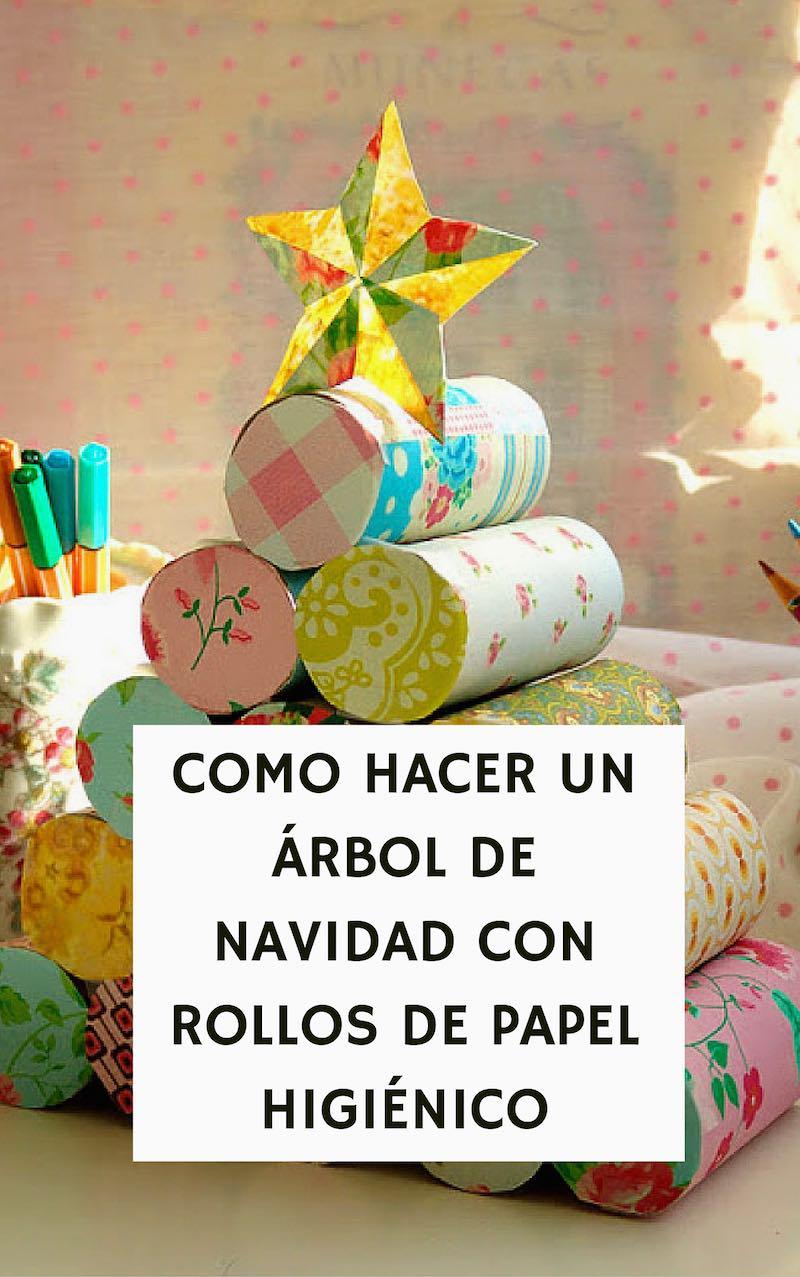 C mo hacer un rbol de navidad con rollos de papel higi nico - Rollos de papel higienico decorados ...