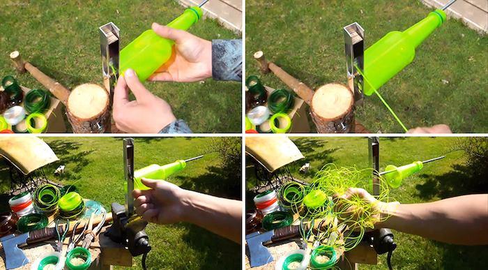 como convertir botellas de plstico en cuerda