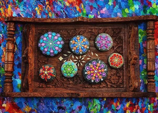 Como pintar piedras para crear coloridos Mandalas