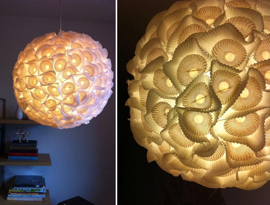 Lámpara con envoltorios de pastelitos1