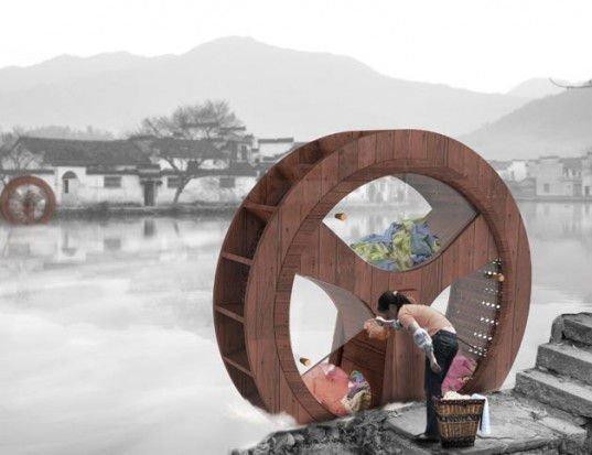Water Wheel Washing Machine lavadora sin electricidad