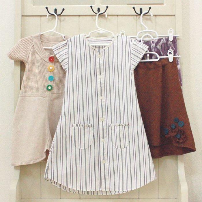 Como convertir camisas de papa en vestidos de niñas