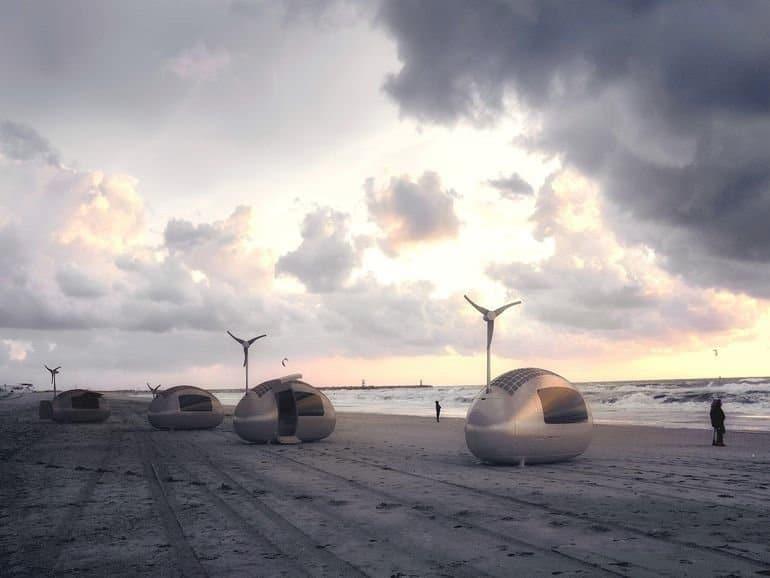 Ecocapsula en la playa