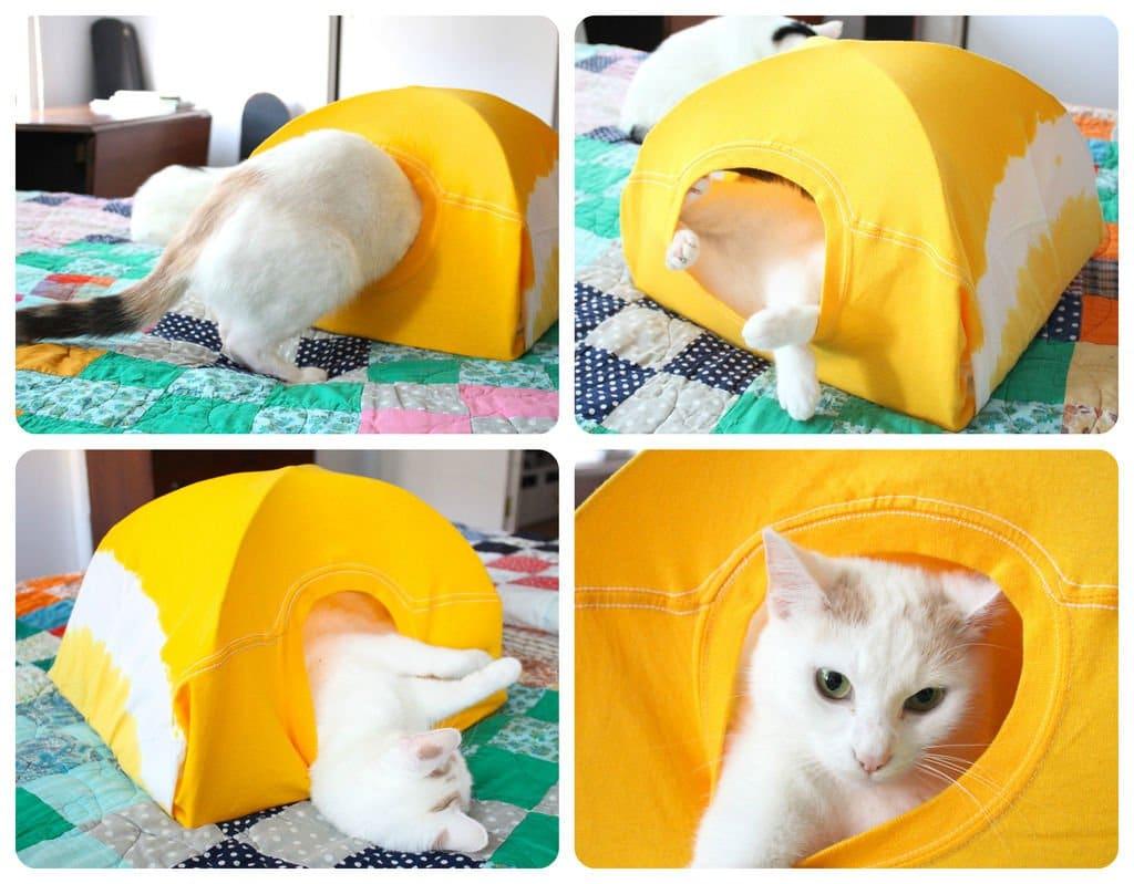 Como hacer una casita para tu gato 14