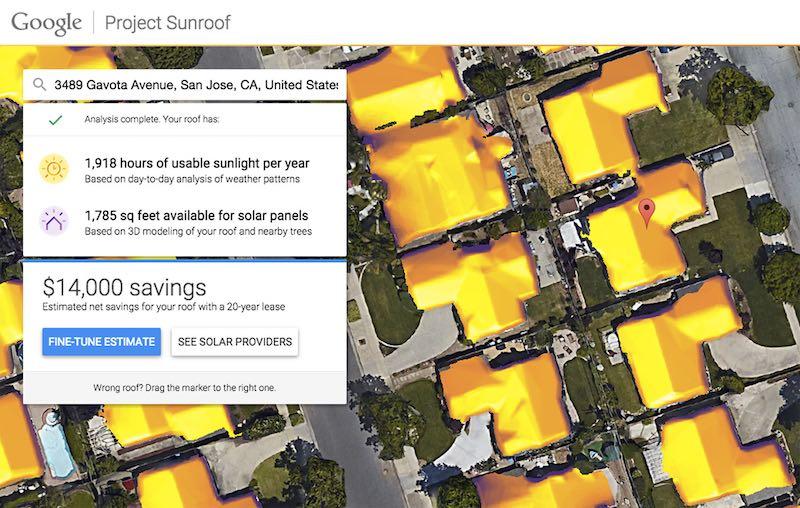 Sunroof Google