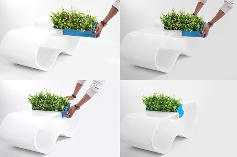 Mesa PLAME, una mesa que permite el cultivo de plantas medicinales y decorativas en el hogar