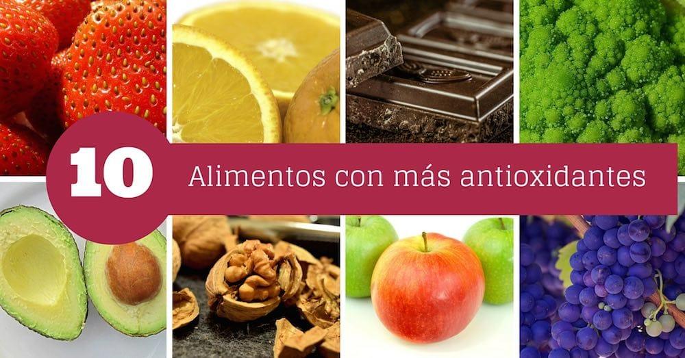 Alimentos con mas antioxidantes