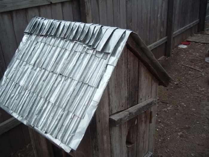 Como hacer tejas con latas de aluminio2