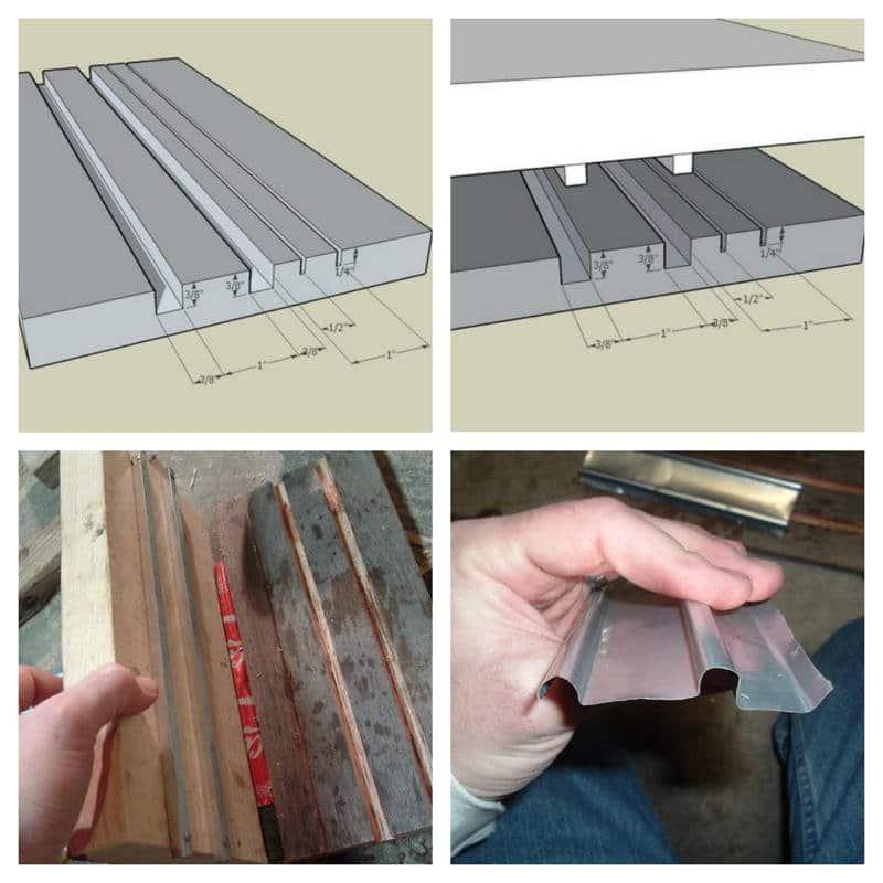 Como hacer tejas con latas de aluminio6