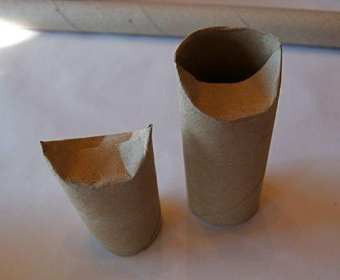 Criaturas para Halloween con rollos de papel higiénico2