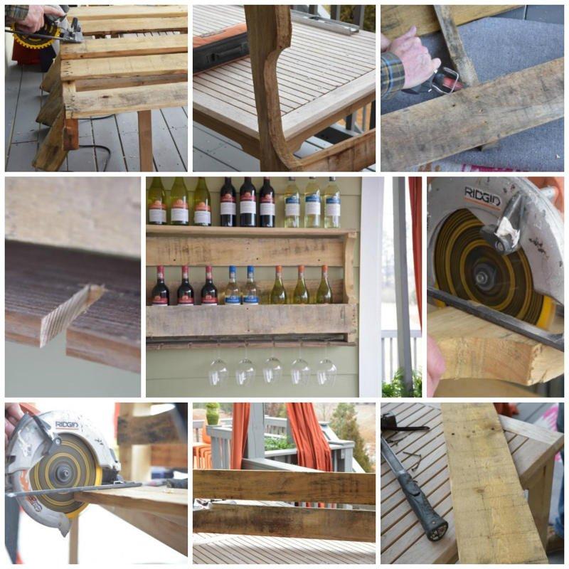 Eco reciclaje como hacer una estanter a para vinos con un - Estanterias de vino ...