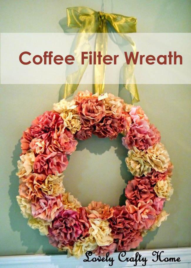 guirnaldas navideas con filtros de caf