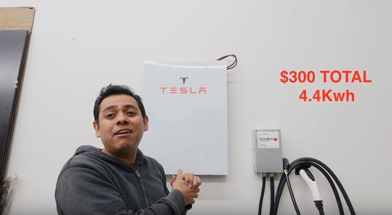 Cómo hacer tu propia bateria Powerwall por menos de 300 euros
