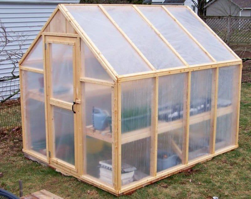Como construir un invernadero con estructura de madera - Invernadero para casa ...