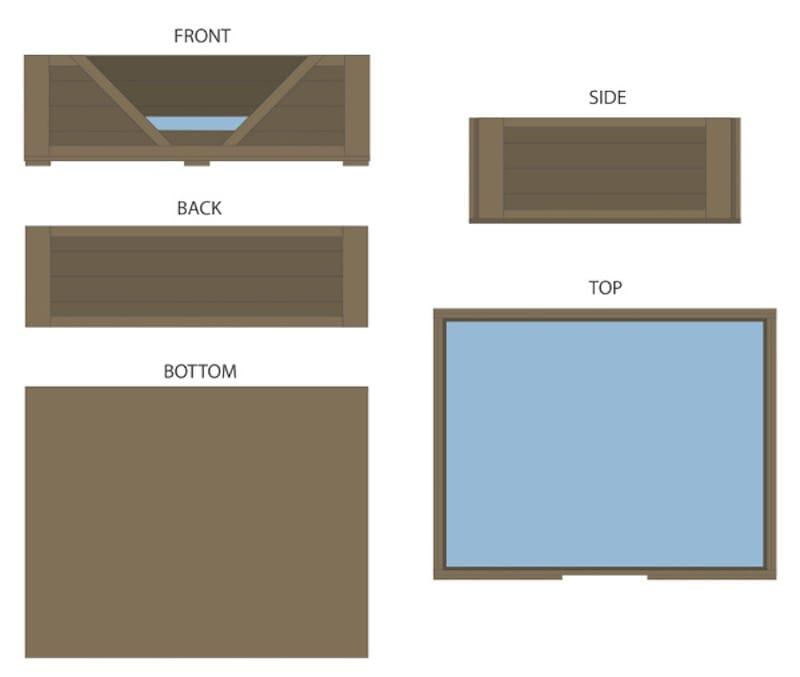 Como hacer una cama para tu perro con palets planos