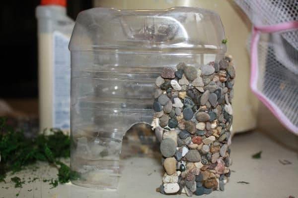 Hacer una casa de piedra de hadas