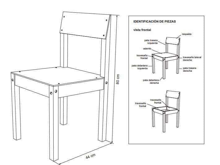 Planos para construir muebles de madera for Medidas de muebles para oficina