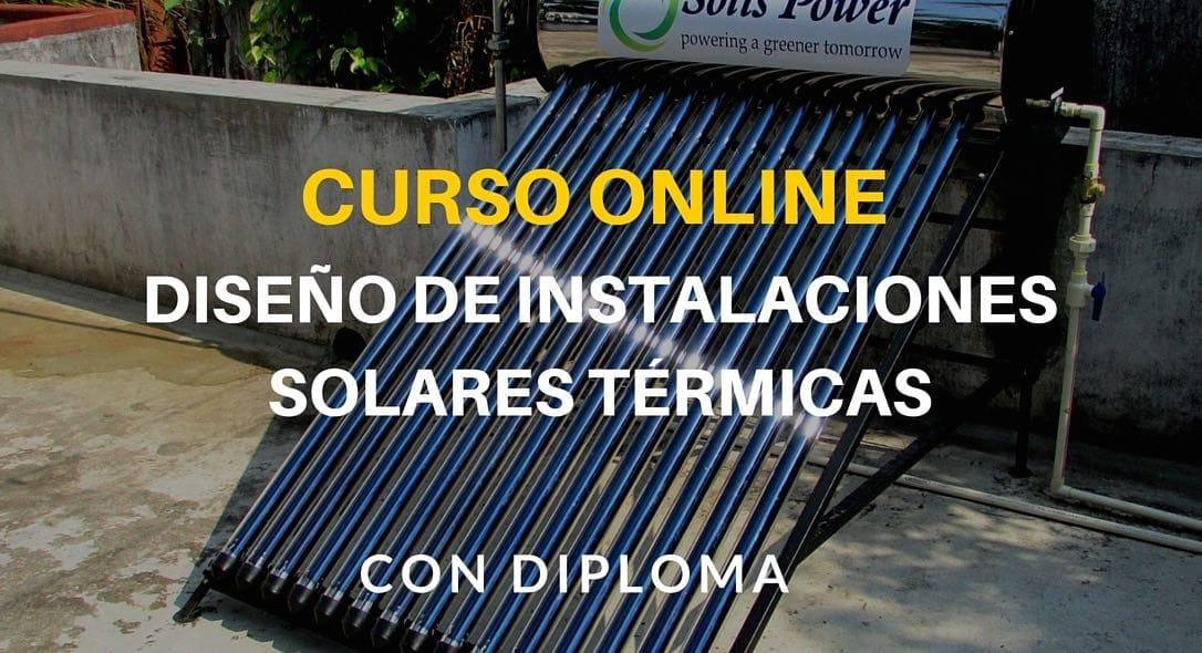 Curso online de diseño de instalaciones solares térmicas