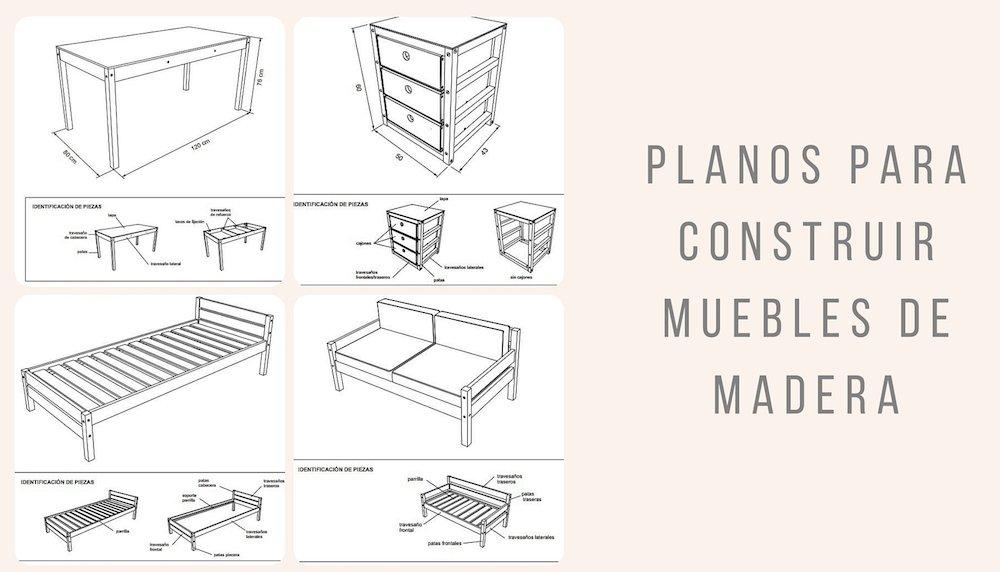Planos para construir muebles de madera for Medidas de mobiliario de una casa