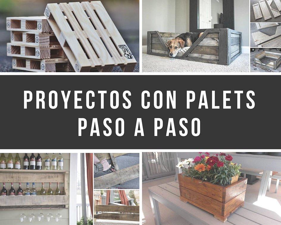 11 proyectos con palets que podrás realizar tu mismo paso a paso