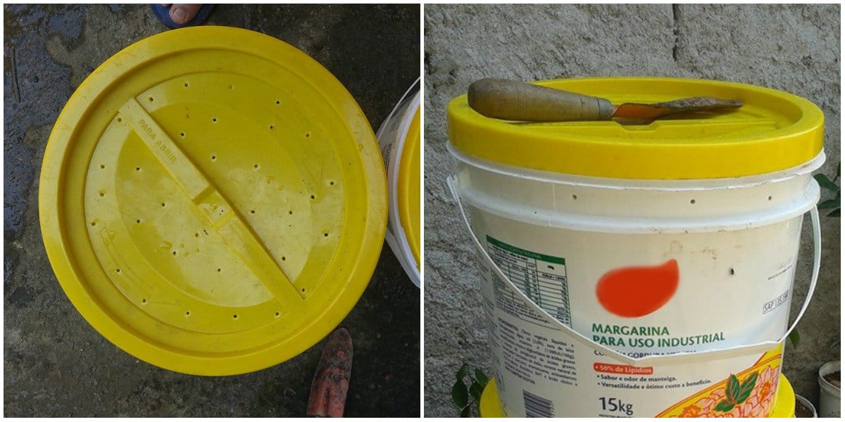 compostadora casera reutilizando bidones de plástico3
