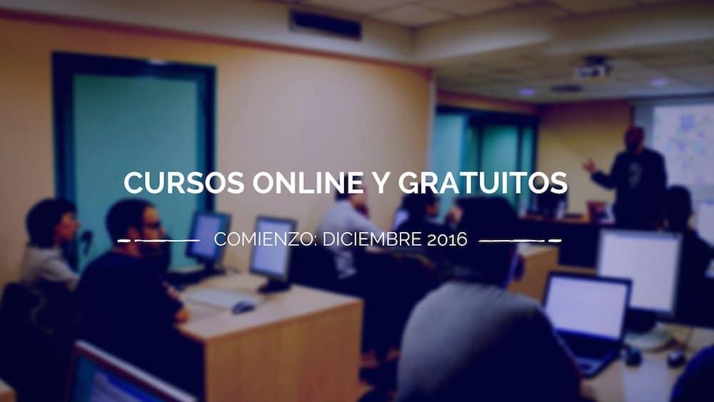 Cursos gratuitos online que comienzan en diciembre