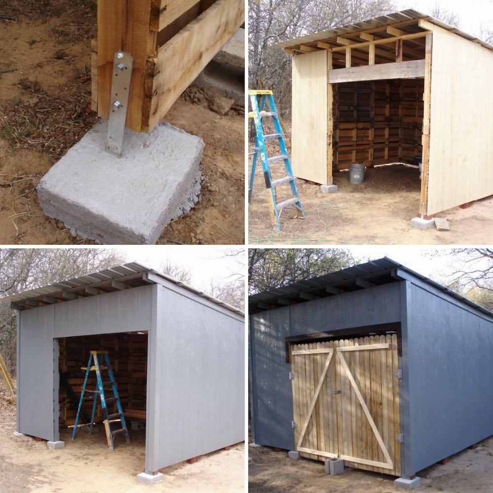 C mo hacer un cobertizo de madera con pal s reutilizados - Como hacer una caseta de madera para el jardin ...