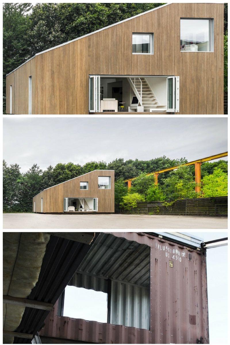 Una incre ble casa hecha con contenedores de transporte - Casa con contenedores maritimos ...