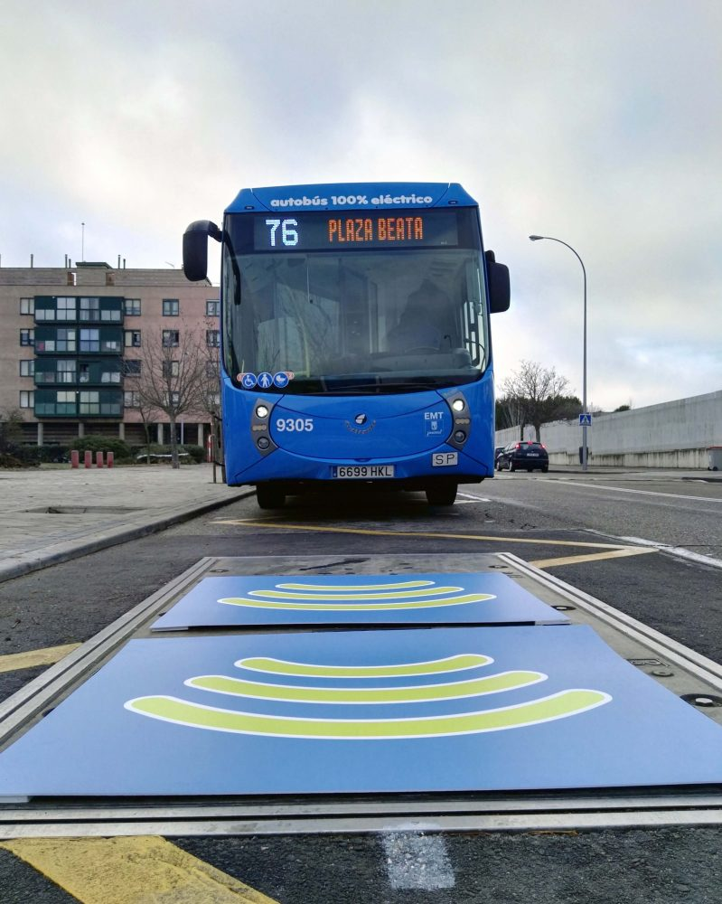 Madrid estrena su primera línea 100% eléctrica de autobuses urbanos con carga por inducción
