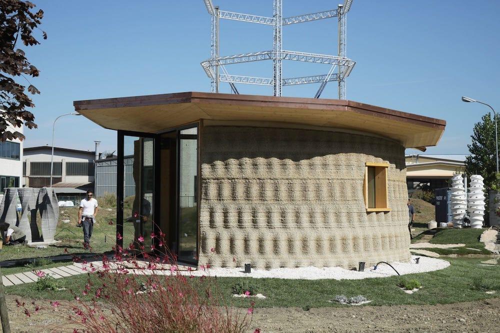 Gaia, la casa de arroz y tierra impresa en 3D