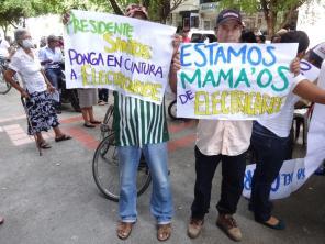 Protesta contra Electricaribe