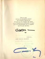 Autógrafo certificado ante notario público.