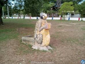 El hombre caimán en el PArque del Helado.