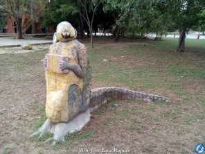 El hombre caimán, un gran aficionado a la música vallenata.
