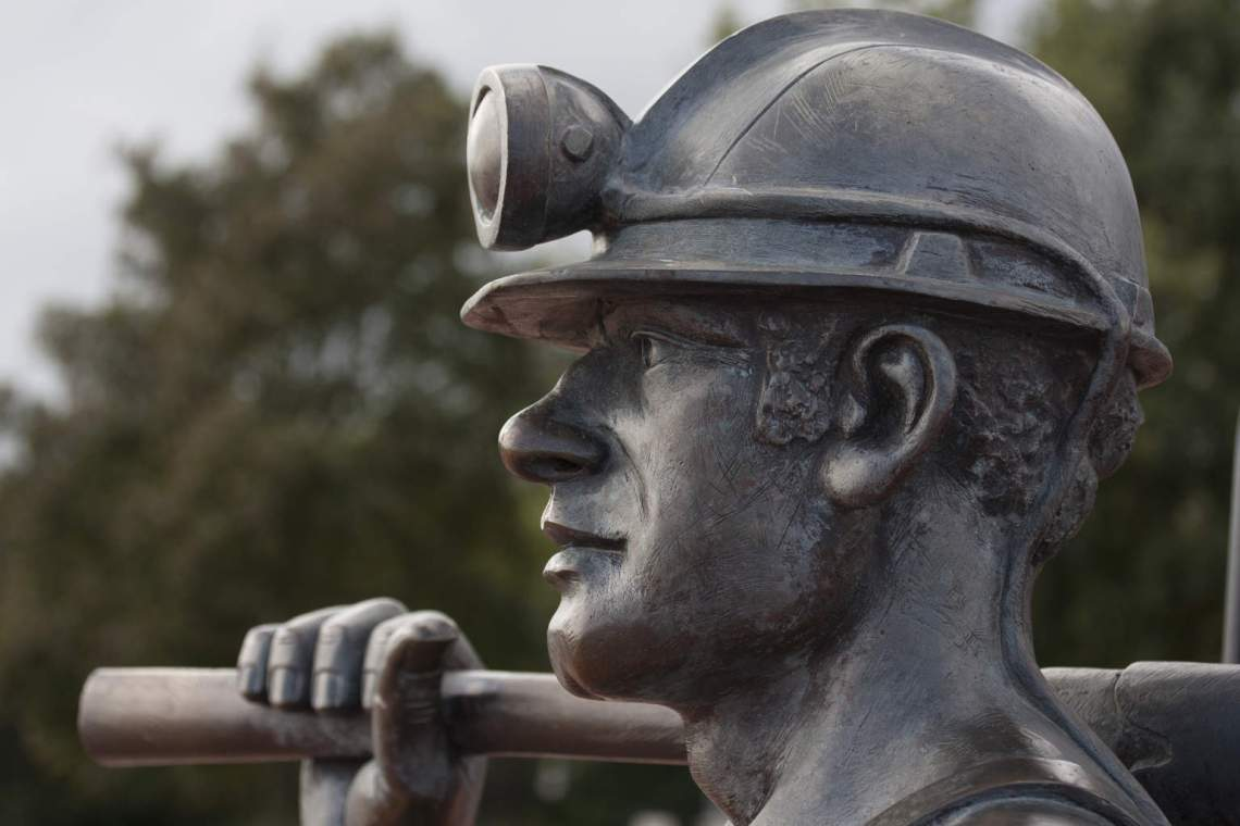 Coal Miner statue dreamstime