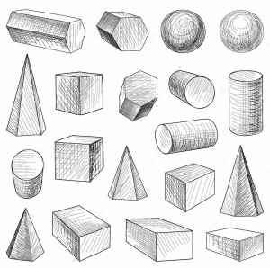 geometric drawing shapes geometrical lesson shape hand symmetry drawn drawings fruit basic sketches easy pencil vector lessons ecokidsart fruits still